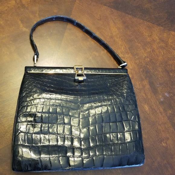Bags   Vintage Black Alligator Purse   Poshmark 43bb712b93